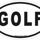 Golf Oval Car Sticker