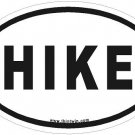 Hike Oval Car Sticker