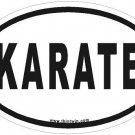 Karate Oval Car Sticker