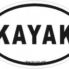 Kayak Oval Car Sticker