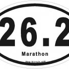 Marathon Oval Car Sticker