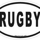 Rugby Oval Car Sticker
