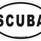 SCUBA Oval Car Sticker