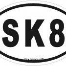 SK8 Oval Car Sticker