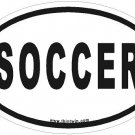 Soccer Oval Car Sticker