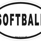 Softball Oval Car Sticker