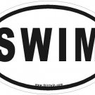 Swim Oval Car Sticker