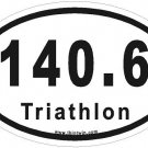 Triathlon Oval Car Sticker
