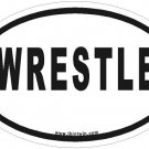 Wrestle Oval Car Sticker