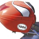 Yoga Oval Car Sticker