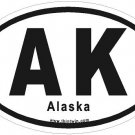 Alaska Oval Car Sticker