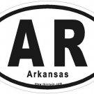 Arkansas Oval Car Sticker
