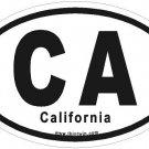 California Oval Car Sticker