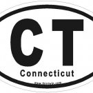 Connecticut Oval Car Sticker