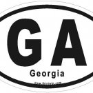 Georgia Oval Car Sticker