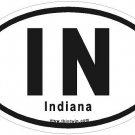 Indiana Oval Car Sticker