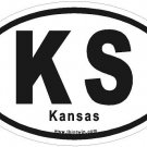 Kansas Oval Car Sticker