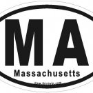 Massachusetts Oval Car Sticker