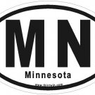 Minnesota Oval Car Sticker