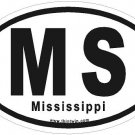 Mississippi Oval Car Sticker