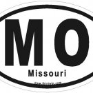 Missouri Oval Car Sticker