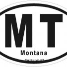 Montana Oval Car Sticker