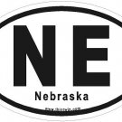 Nebraska Oval Car Sticker