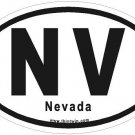 Nevada Oval Car Sticker
