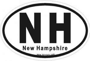 New Hampshire Oval Car Sticker