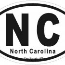 North Carolina Oval Car Sticker