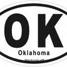 Oklahoma Oval Car Sticker