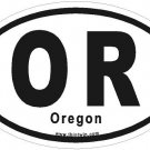 Oregon Oval Car Sticker