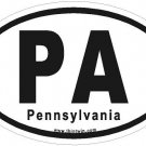 Pennsylvania Oval Car Sticker