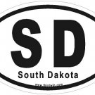 South Dakota Oval Car Sticker