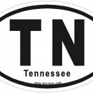 Tennessee Oval Car Sticker
