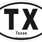 Texas Oval Car Sticker