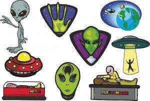 Alien Wall Decal Assortment Packs