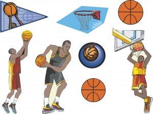Basketball Wall Decal Assortment Packs