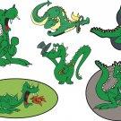 Dragon Cartoon Wall Decal Assortment Packs
