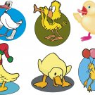 Ducks Cartoon Wall Decal Assortment Packs