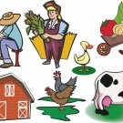 Farm Cartoon Wall Decal Assortment Packs