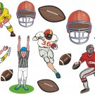 Football Cartoon Wall Decal Assortment Packs