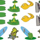 Frogs Cartoon Wall Decal Assortment Packs