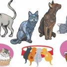 Cats Wall Decal Assortment Packs