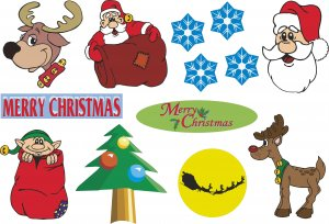 Christmas Wall Decal Assortment Packs