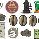 Coffee Wall Decal Assortment Packs