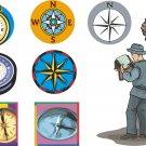 Compass Wall Decal Assortment Packs