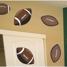 Football Balls Wall Decal Assortment Packs