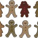 Gingerbread Man Wall Decal Assortment Packs