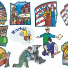 Labor Day Wall Decal Assortment Packs